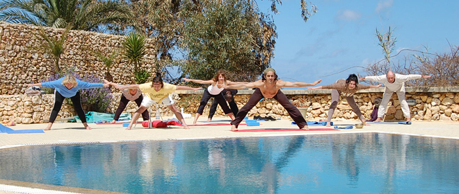 Balazs Heller Practices Yoga in Malta